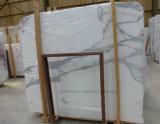 Calacattaの自然な石造りの白い大理石のタイルかカウンタートップまたは平板