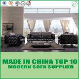 Présidence en cuir en bois de sofa de meubles de luxe modulaires de Dubaï pour l'hôtel