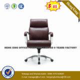 Présidence en bois en cuir noire de salle de réunion de conférence de chêne de bras (NS-005C)