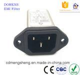 EMI IEC Filtro EMC de energía eléctrica con portafusibles