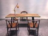 クルミの純木のコーヒーテーブル、椅子のダイニングテーブルのレストラン表