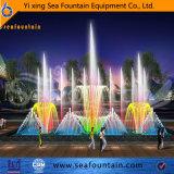 Fuente de agua coloreada fuente musical del efecto luminoso