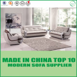 Sofa sectionnel en cuir des meubles 1+2+3 modernes en bois