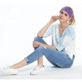 여자 부드럽게 탄력 있는 뻗기 소녀 운동 머리띠를 위한 머리띠가 혼합 색깔 요가에 의하여