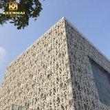 Edificio moderno panel de pared de aluminio con corte láser para la decoración de diseño
