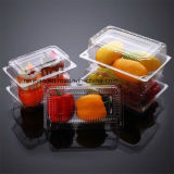 食糧のためのカスタム透過Foldable印刷PP/PVC/Petのプラスチック包装使い捨て可能なボックス