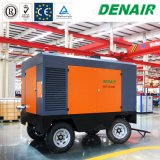Two/Furnace Wheels 225psi Mobile Screw Air Compressor with Diesel Driven Engine