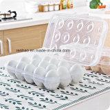 Caixa de embalagem descartável do recipiente plástico do PVC da bandeja dos ovos