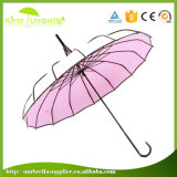 Wholesale16K nervure Madame droite Pagoda Umbrella d'assemblage de mode