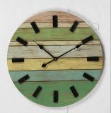Horloge antique de vente chaude de Firwood pour le décor de mur avec affliger léger