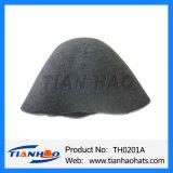 Mezcla de alta calidad cono de fieltro de lana de color Negro Hat cuerpo de la mujer y hombre