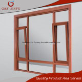 En aluminium Incliner-Tourner le profil en aluminium de guichet en bois comme le guichet de tissu pour rideaux
