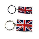 De alta calidad baratos esmalte Llavero Bandera del Reino Unido para regalo