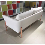 White Color에 있는 대중적인 Simple Style Office Furniture Leather Sofa