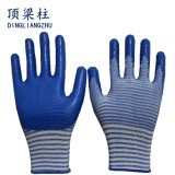 13 Anzeigeinstrument-Shell-Polyester-Sicherheits-Arbeits-Handschuhe mit dem Nitril beschichtet