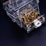 De acryl Automatische Voedende Papegaai Cockatiel Esg10471 van de Container van het Voedsel van de Voeder van de Kooi van de Vogel van het Huisdier