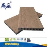 Decking novo da co-extrusão WPC - textura de madeira que pavimenta 145*21mm
