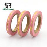 band Washi van de Folie van het Patroon van 5mm de Magere Geometrische Geassorteerde Slanke Gouden Roze
