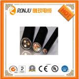 Cable de transmisión acorazado de la envoltura del PVC de la base del PVC de la cinta de acero de cobre del aislante