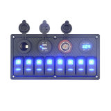 El 8 de la pista azul LED 12V/24V Panel interruptor disyuntor Alquiler AP Barco Marine