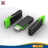 Lecteur flash USB en plastique de rectangle de glissière de qualité de promotion fabriqué en Chine