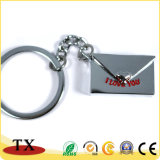 Keyring profissional do metal da corrente chave da forma do envelope do fabricante
