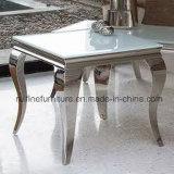 Moderne Esszimmer-Möbel/Metallzeitgenössische Hauptmöbel für Wohnzimmer-/Edelstahl-Tisch-Stuhl-Bankett-Gaststätte-Möbel