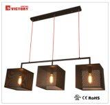 現代デザイン正方形の金属の白いシャンデリアのペンダント灯