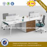 قعر سعر [ل] شكل مكتب طاولة اثنان مقعد مركز عمل ([هإكس-8ن0663])