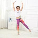 Il latte della stampa dell'aggraffatura di alta qualità scherza Legging per yoga