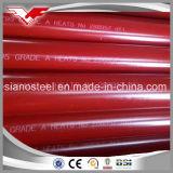 溝がある端および赤い絵画が付いているWelded ERW氏の消火栓の管