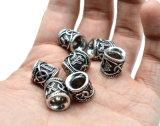 Bevindingen van de Parels van de Charmes van Viking van de Baard van het Haar 24PCS van de fabriek de In het groot Antieke Zilveren voor de Juwelen van de Hals van de Tegenhanger van Armbanden