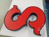 La DEL annonçant le Lit fait sur commande 3D lumineux par DEL de face de la Manche d'usine de signes marque avec des lettres le signe