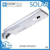 La qualité facile installent le réverbère solaire intégré par 15W