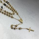 De in het groot Gouden Geplateerde Halsbanden van de Tegenhanger van de Rozentuin Roestvrij staal Gemaakte Dwars