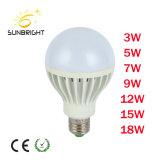 Producto Venta caliente 18W E27 la materia prima de plástico aluminio Bombilla de luz LED