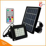 Indicatore luminoso di inondazione alimentato solare portatile di obbligazione del giardino di RGB 20LED con telecomando
