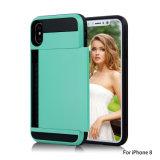 Telefone de protecção abranger os casos com slot para cartão de crédito para iPhone 8