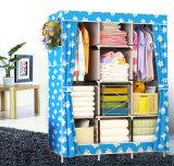 De goedkope Eenvoudige Moderne het Vouwen Ontwerpen van de Garderobe van de Slaapkamer van de Stof Draagbare