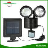 Luz solar dual de la seguridad del sensor de movimiento de la pista 22 LED de la iluminación al aire libre