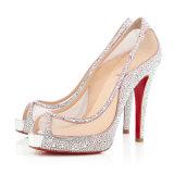Pattini famosi dell'alto tallone delle donne delle pompe delle donne della presa delle calzature