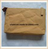 Bolso lavable respetuoso del medio ambiente del maquillaje del papel de Kraft con la cremallera