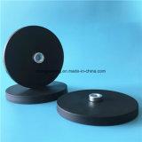 Магнит установки бака случая основания бака резины Coated43 x 6mm бака магнита резиновый с отверстием мыжской резьбы