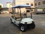 Chasis de aluminio eléctrico de 4 plazas con carros de golf bolsas de golf