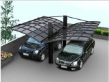 Carport dobro de alumínio do policarbonato para a garagem do carro