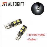 Lampadine bianche dell'indicatore dell'automobile LED di T10 5050 9SMD Canbus 12V 24V