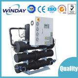 Refrigerador de refrigeração água do parafuso dos sistemas do calefator