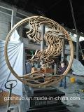 Werken van het Beeldhouwwerk van de Decoratie van het Beeldhouwwerk van het roestvrij staal de Abstracte Openlucht