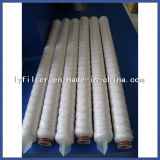 El alambre del polipropileno de 30 PP de la pulgada hiere el elemento filtrante del cartucho de 5 micrones para el equipo del agua