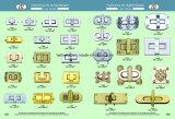 Sac de petits accessoires de mode combinaison mignon Trun Verrouiller Hjw1761